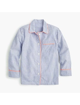 Kids' Tipped Pajama Set In Stripes by J.Crew