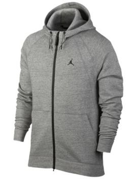 Jordan Jsw Wings Fleece Full Zip Hoodie   Men's by Jordan