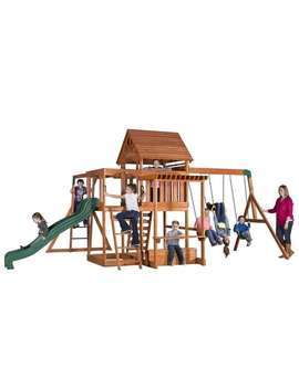 Backyard Discovery Monticello Stained Cedar Swing Set Play Set by Backyard Discovery