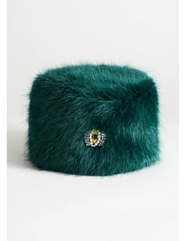 Jewel Eye Faux Fur Hat by & Other Stories