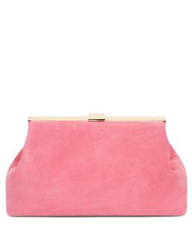Suede Volume Clutch by Mansur Gavriel