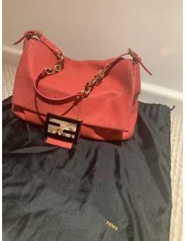 Fendi Coral/Orange Leather Original Handbag by Ebay Seller