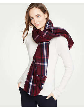 Tartan Plaid Blanket Scarf by Ann Taylor
