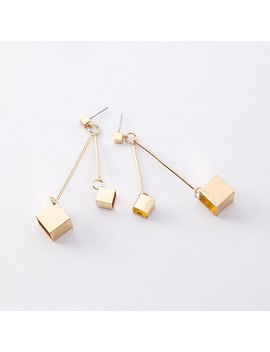 Simple Korean Style Hollow Square Dangle Earrings For Women Metal Geometric Drop Earrings Ladies Fashion Jewelry Mj1632 by Ywuuli