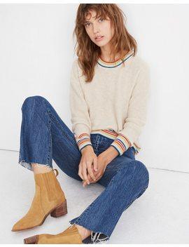 Rainbow Trim Cashmere Sweatshirt by Madewell