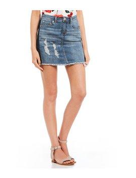 Stripe Pocket Mini Denim Skirt by Gb