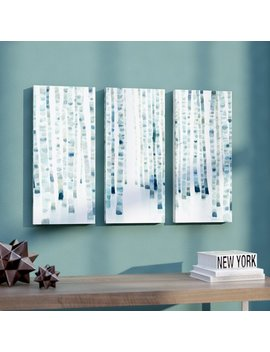 Ivy Bronx Neutral Birch Grove 3 Piece Painting Print On Wrapped Canvas Set & Reviews by Ivy Bronx