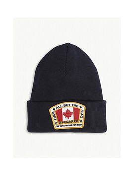 Canadian Flag Patch Beanie by Dsquared2
