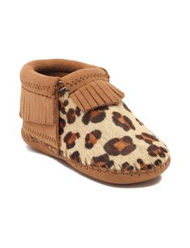 Infant/Toddler Minnetonka Riley Leopard Bootie by Minnetonka
