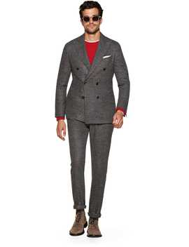 Havana Grey Stripe Suit by Suitsupply