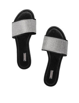 New! Rhinestone Velvet Slide by Victoria's Secret