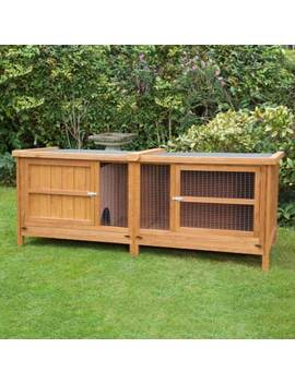 6ft Chartwell Single Luxury Xl Hutch Guinea Pig Pet Garden Outdoor Cage Deluxe by Ebay Seller