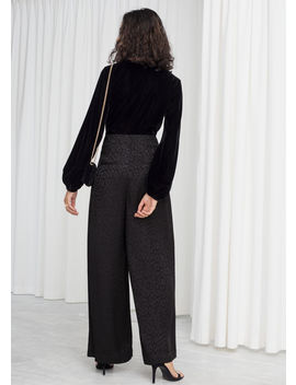 Leopard Satin Jacquard Trousers by & Other Stories