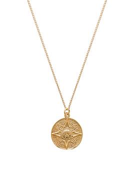 Sun Medallion Necklace by Joolz By Martha Calvo