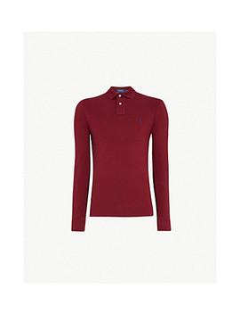 Long Sleeved Cotton Piqué Polo Shirt by Polo Ralph Lauren