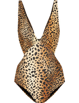 Del Mar Badeanzug Mit Leopardenprint Und Cut Outs by Melissa Odabash