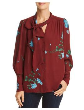 Angeletta Tie Neck Silk Top by Joie