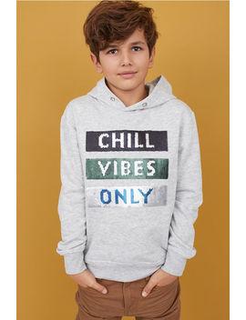Appliquéd Hooded Sweatshirt by H&M
