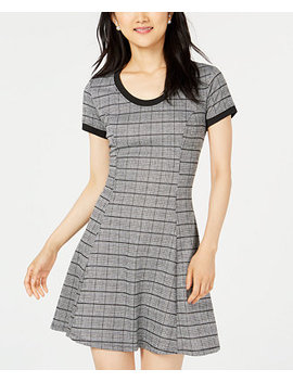 Juniors' Cutout Fit & Flare Dress by Be Bop