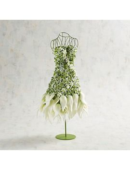 Faux White Petals Mannequin Floral Arrangement by Pier1 Imports