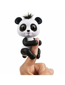 Wow Wee Fingerlings Glitter Panda    Drew (White & Black)   Interactive Collectible Baby Pet by Wow Wee