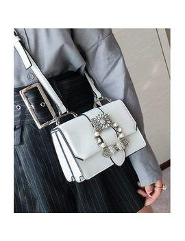 Aishang   Rhinestone Faux Leather Shoulder Bag by Aishang