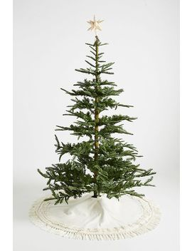Ivory Stripe Tree Skirt by Anthropologie