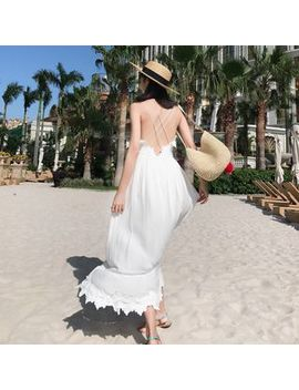 Nebbia   Backless Maxi Sundress by Nebbia