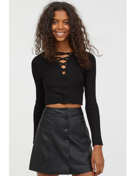 Short Jumper With Lacing by H&M