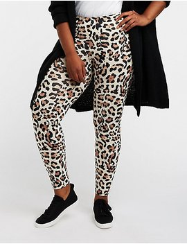 Plus Size Leopard Print Leggings by Charlotte Russe
