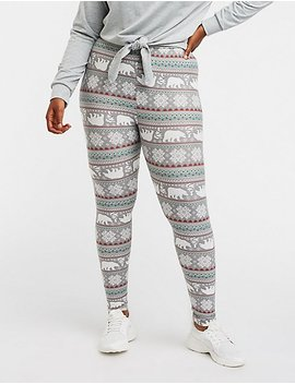 Plus Size Polo Bear Printed Leggings by Charlotte Russe