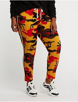 Plus Size Camo Jogger Pants by Charlotte Russe