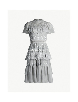 Cinderella Floral Embroidered Tulle Dress by Needle And Thread