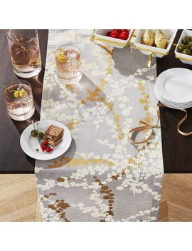 "Snow Branch 90"" Table Runner by Crate&Barrel"