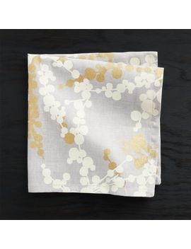Snow Branch Napkin by Crate&Barrel