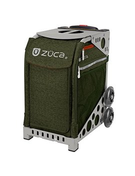 ZÜca Forest Green Sport Insert Bag + Aluminum Alloy Frame (Gray) W/ Led Flashing Wheels by Zuca
