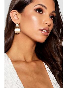 Olivia Tiered Disc Drop Earrings by Boohoo
