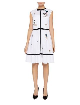 Iina Embroidered Windsor Gate Dress by Ted Baker