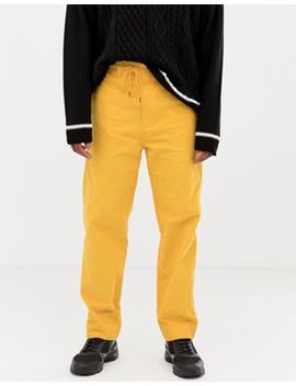 Collusion Straight Fit Cord Pants In Yellow by Collusion