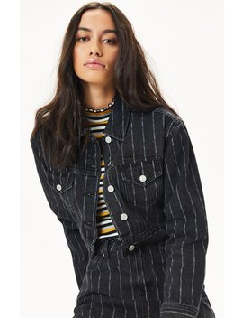Pac Sun Vintage Striped Trucker Jacket by Pacsun