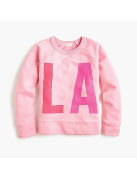 "Girls' ""L.A."" Sweatshirt by J.Crew"