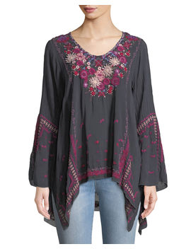 Wish Stitch Embroidered Tunic, Plus Size by Johnny Was