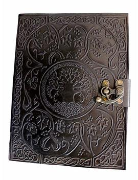 Handmadecraft Large Tree Of Life Leather Journal Diary Notebook For Writing Leather Diary Handmade Leather Journal By Handmadecraft by Handmadecraft