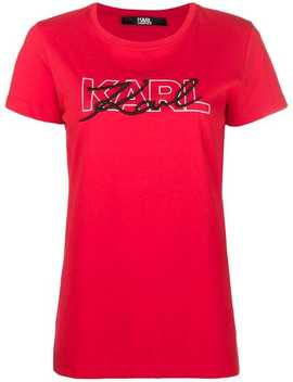 Double Logo T Shirt by Karl Lagerfeld