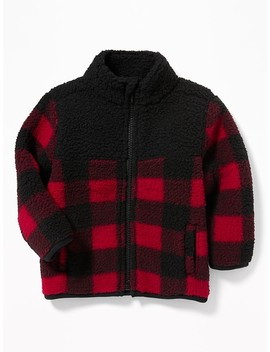Cozy Sherpa Zip Jacket For Baby by Old Navy