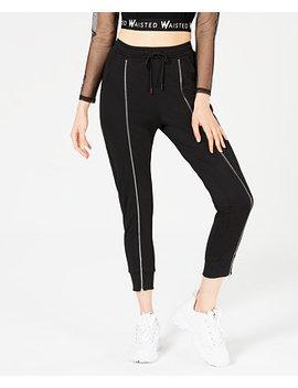 Zipper Trim Jogger Pants by Waisted