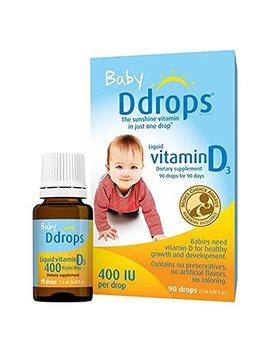 Ddrops 1072834 400 Iu Liquid Vitamin D3 Drops For Babies, 2.5 Ml, 2 Count by Ddrops