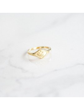 Sun Signet Ring   Signet Ring   Dainty Ring   Dainty Gold Ring    Signet Gold Ring   Gold Ring   Signet Ring Gold by Etsy