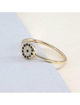 Gold Evil Eye Ring   Dainty Evil Eye Ring   Evil Eye Jewelry    Silver Evil Eye Ring   Gold Round Ring   Tiny Multistone Ring   Minimal Ring by Etsy