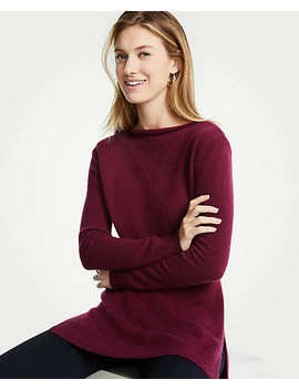 Cashmere Boatneck Tunic by Ann Taylor